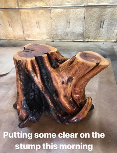 Clear coating stump