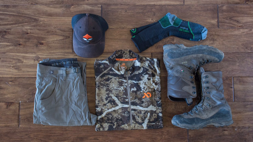 Clothes worn for high country mule deer hunt