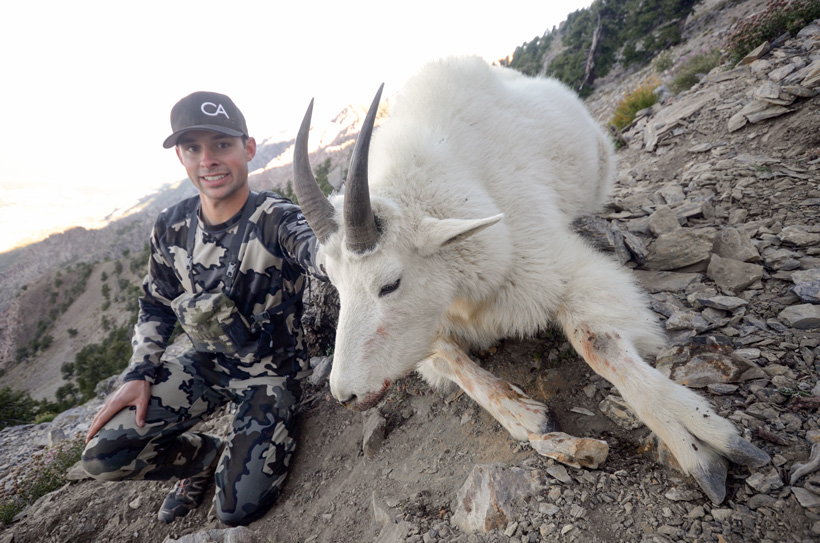 Cody Wetmore with his Utah Mountain goat