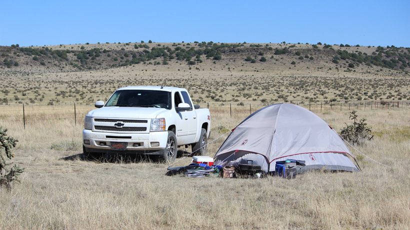 Colorado antelope hunting camp