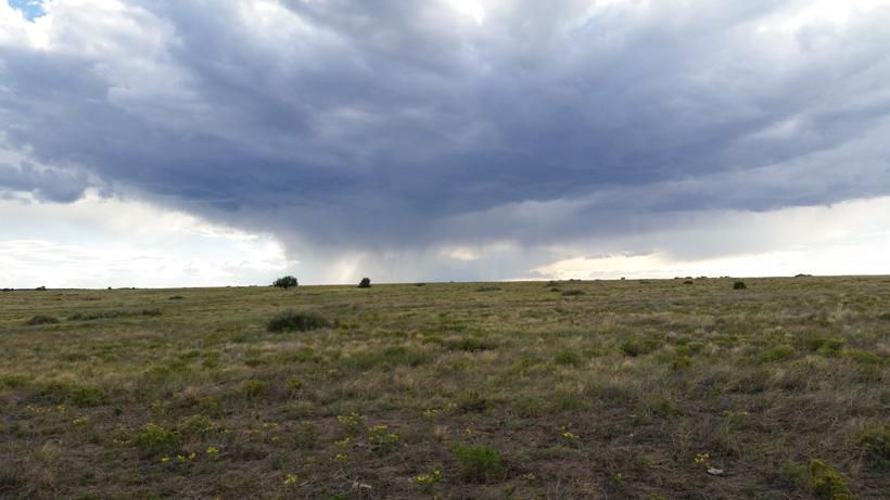 Colorado rainstorm on the plains