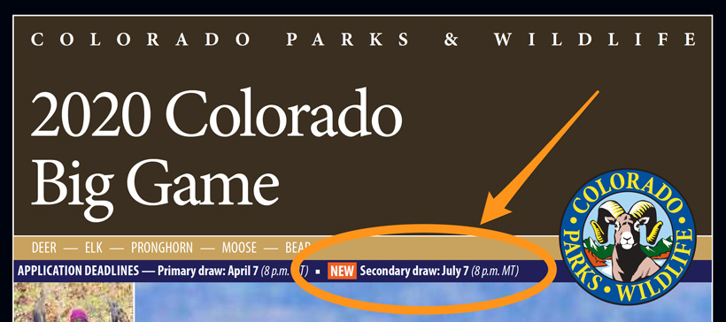 Colorado second draw announcement on regulations