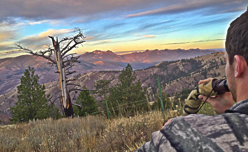 Colton Johnston bugling for elk