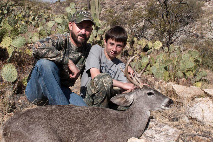 Colton with his first Coues deer buck