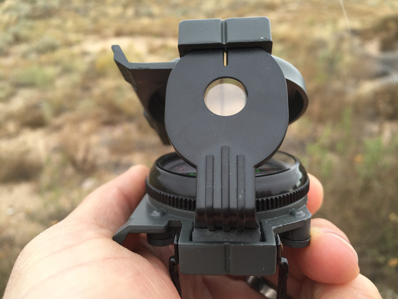 Compass sight picture
