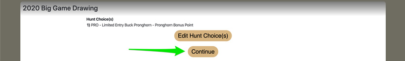 Confirming bonus point selection in Utah
