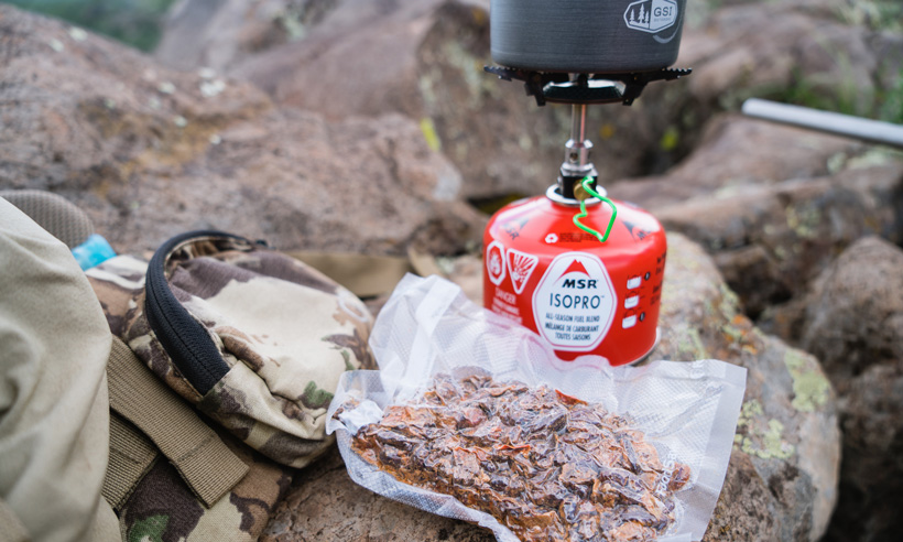 Cooking up food in the backcountry