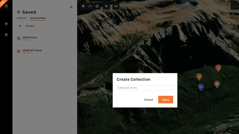 Creating collection on goHUNT Maps