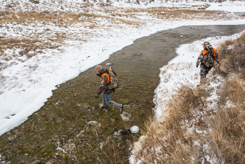 Crossing small stream