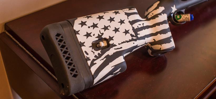 Custom rifle stock length of pull adjustment