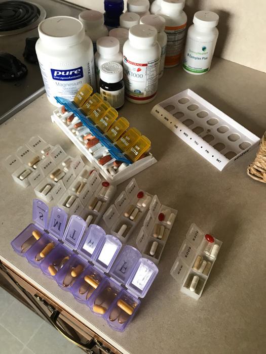 Daily medication battling lyme disease