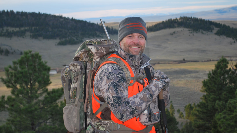 Daniel Smith soaking in the elk hunt scenery