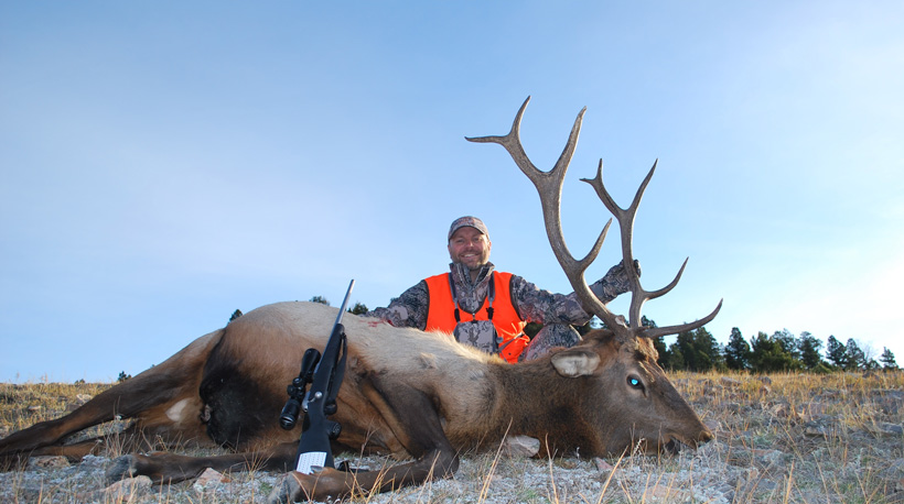 Daniel Smith with his Montana bull elk