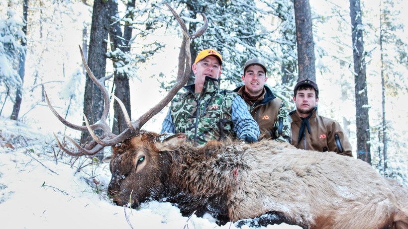 Danny Johnstons Montana elk with his two sons