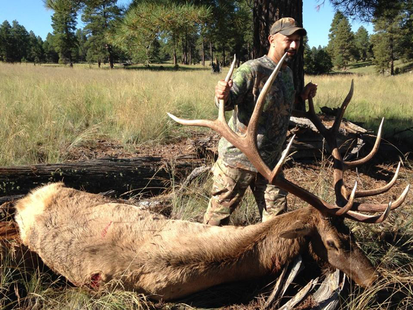 Danny Schrader with his bull elk