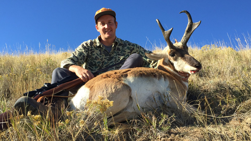 Dave Allee with his Wyoming antelope