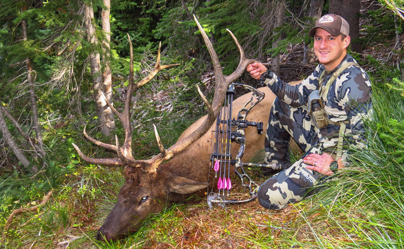 Dave Barnett with a late September archery bull elk