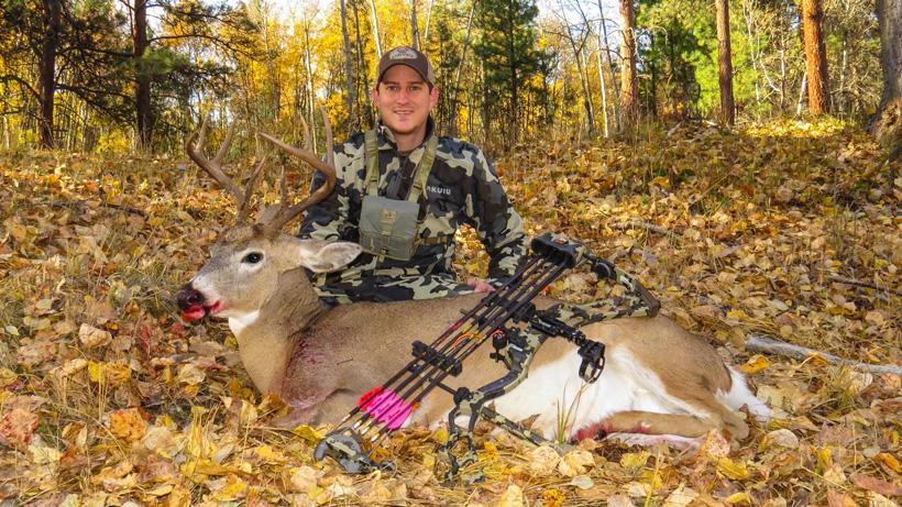 Dave Barnett with his Montana archery buck