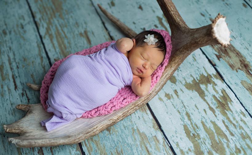 Dave Barnetts newborn baby girl
