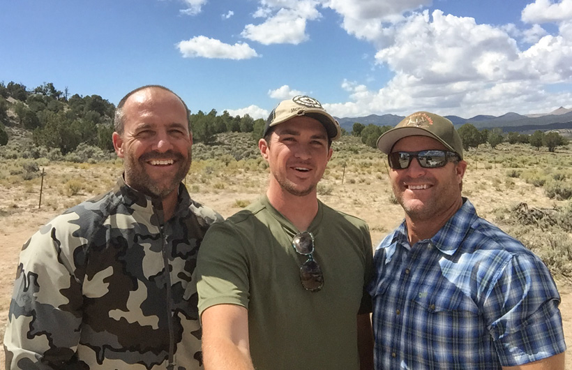 Dave Pat and Stephen Spurlock hunting selfie photo