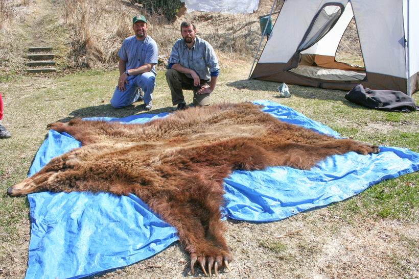 Dave with his bear rug
