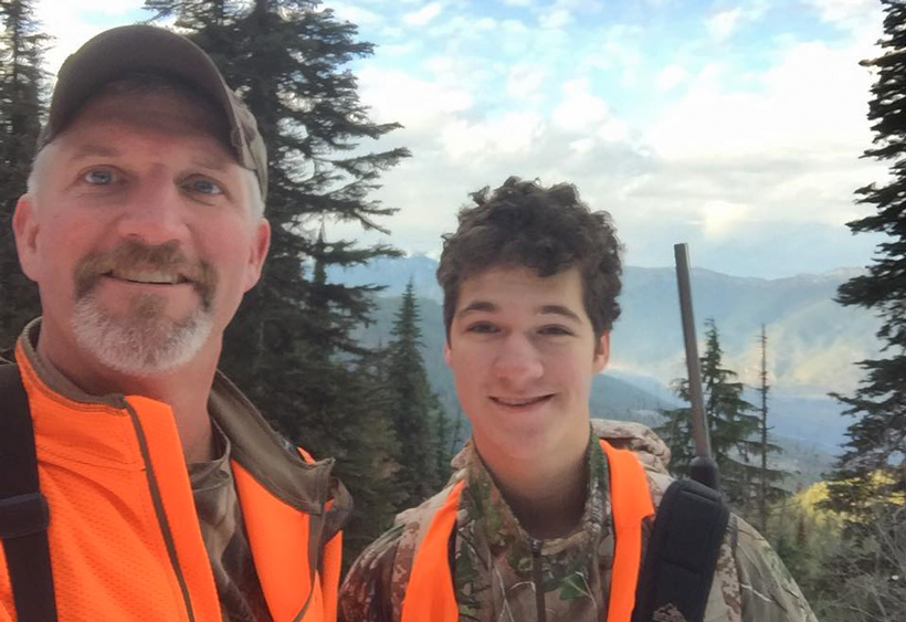 David Zavetsky hunting elk with his son