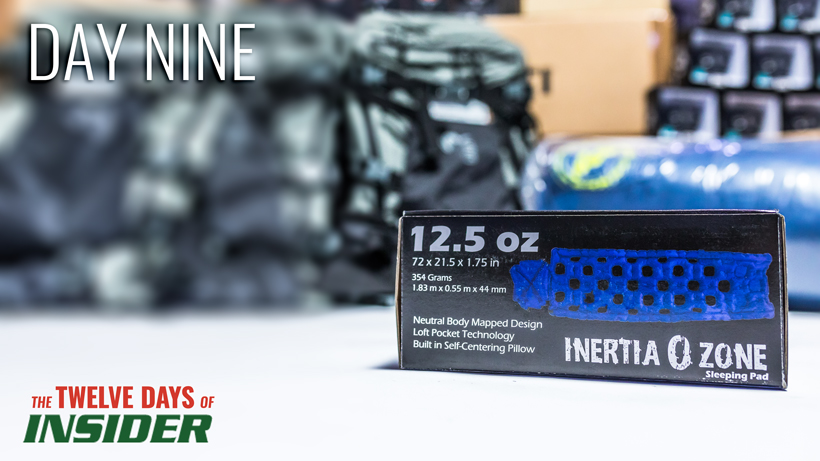 Day nine Klymit Inertia O Zone sleeping pad giveaway