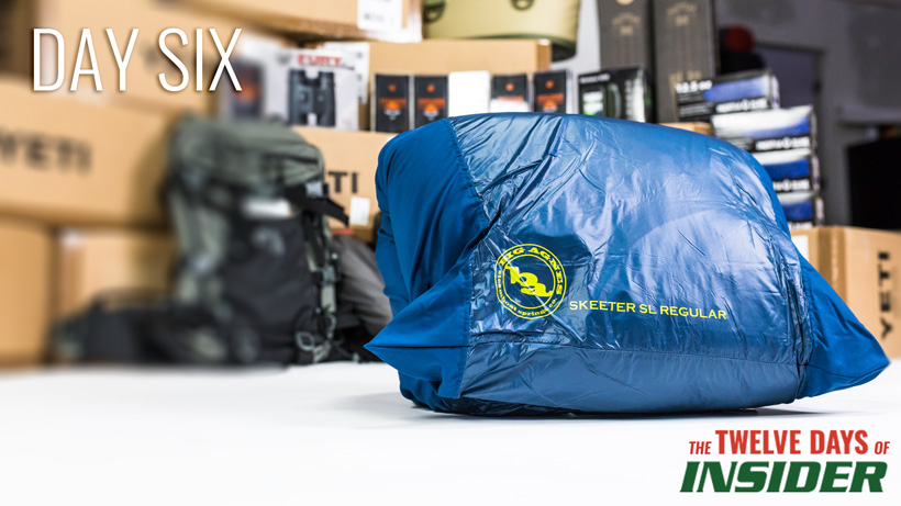 Day six Big Agnes Skeeter SL Sleeping Bag giveaway