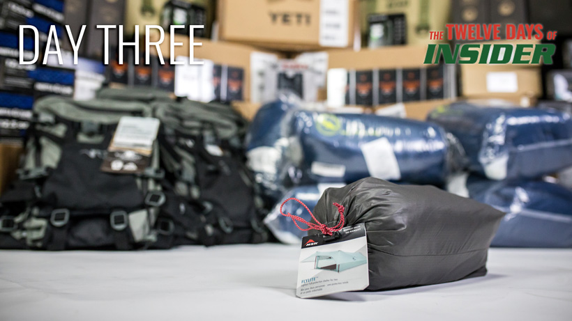Day three MSR Flylite tent giveaway