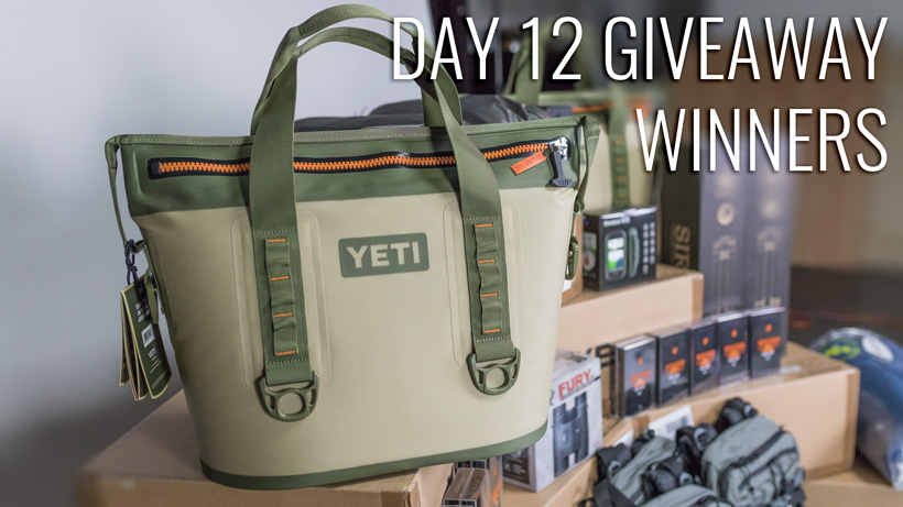 Day twelve YETI Hopper two 20 soft cooler giveaway winners