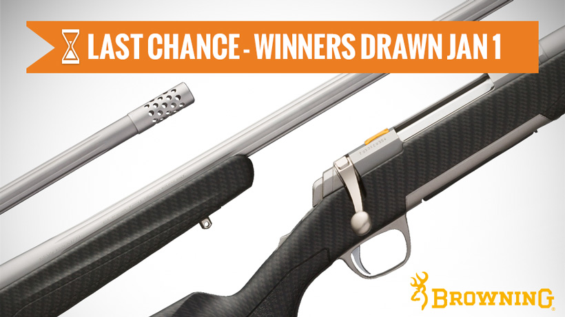 December Browning rifle giveaway last chance