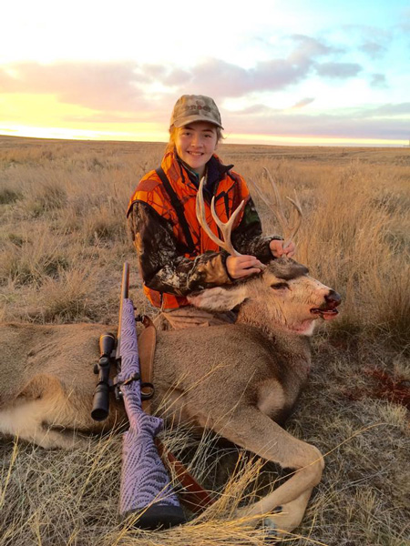 Dennis Hickman's daughter's mule deer buck