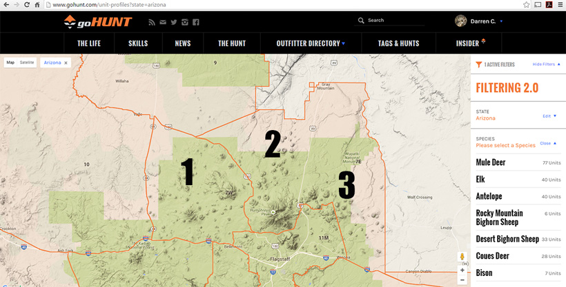 Map Of Unit 5a Arizona.Develop An Effective Game Plan For Scouting Antelope Gohunt