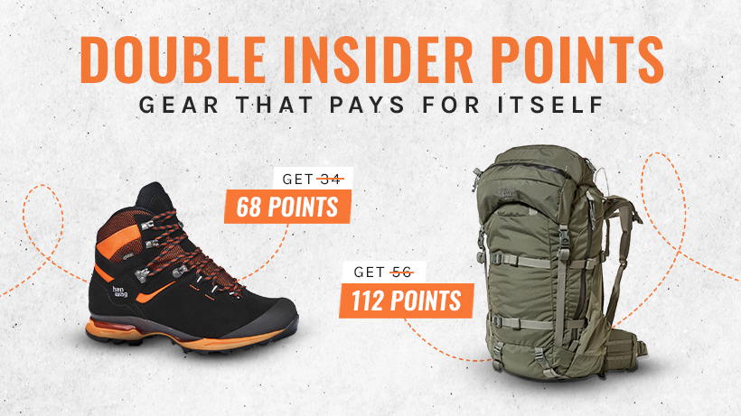Double INSIDER points in the goHUNT Gear Shop