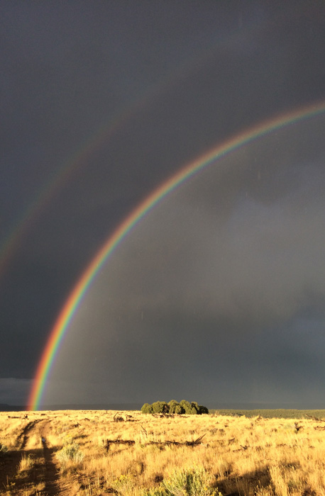 Double rainbow after Utah rainstorm