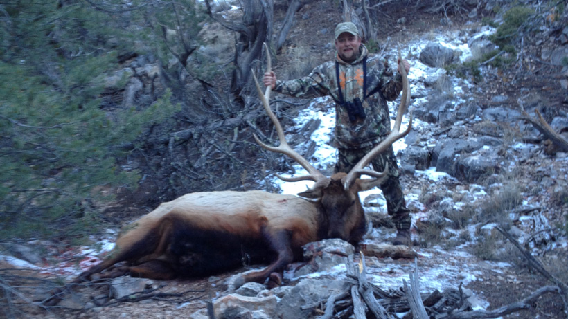 Dustin with his New Mexico bull elk