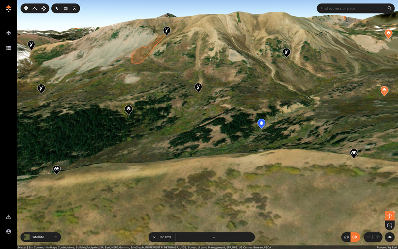 E-scouting for mule deer with goHUNT Maps