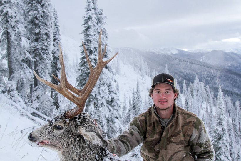 Easton Enott with his high country Montana mule deer