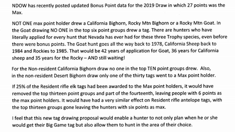 Email screenshot about the Nevada draw system