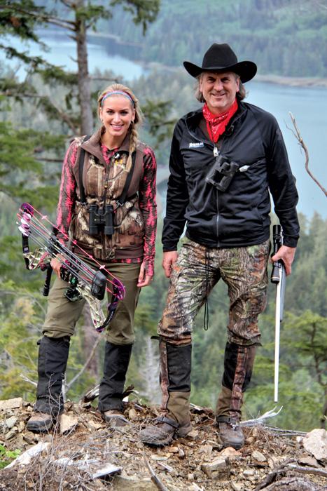 Eva and Jim Shockey on a hunt