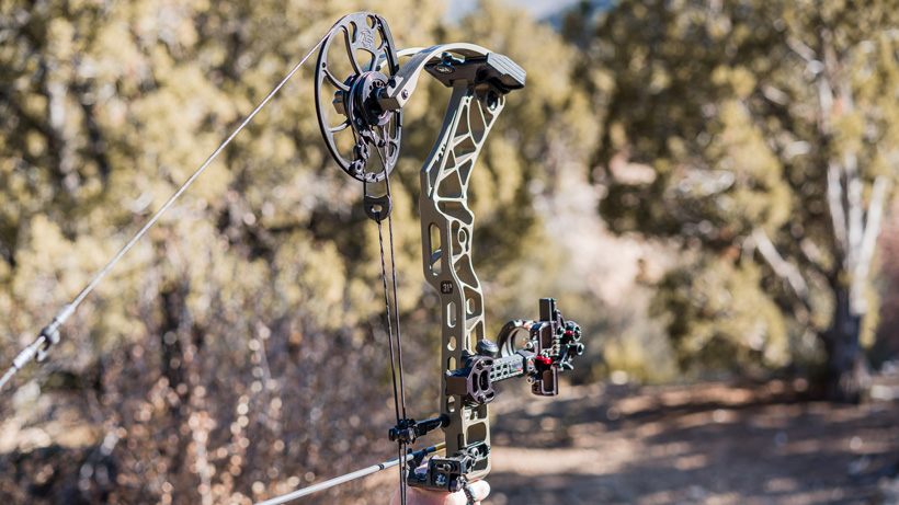 Extended six bridge riser of Mathews VXR bow