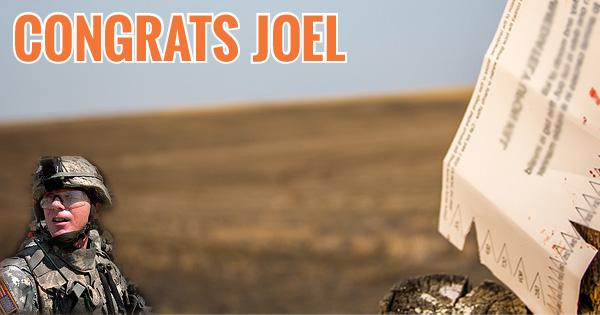 Congrats Joel