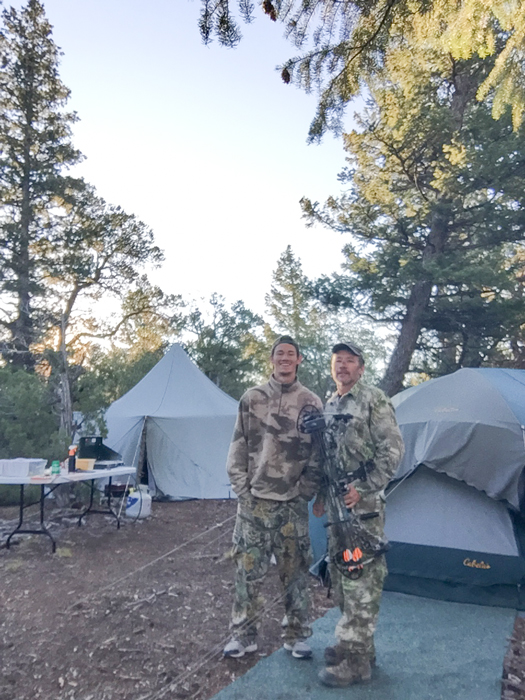 Father and son back at camp