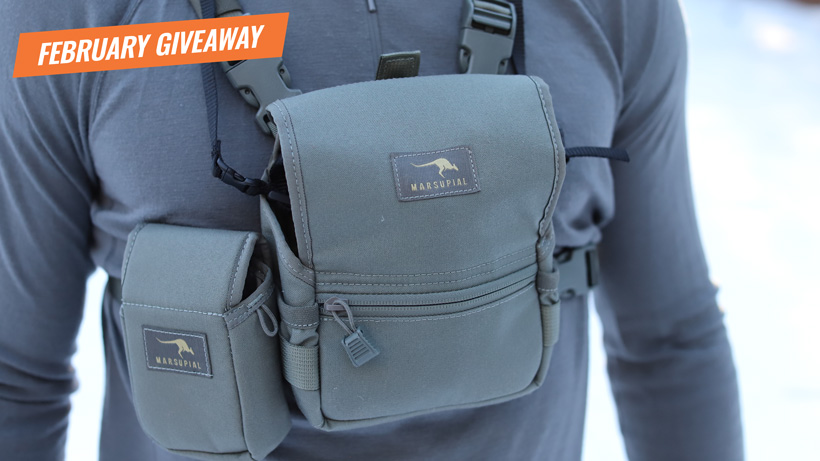 February Marsupial Gear binocular pack giveaway