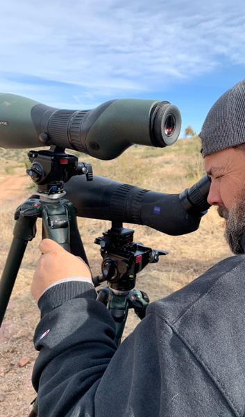 Field testing the Swarovski and Zeiss spotting scopes