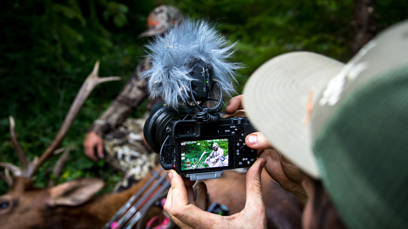 Filming an elk hunt with Born and Raised Outdoors