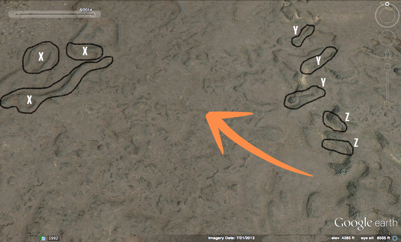 Finding big mule deer in desert terrain using Google Earth