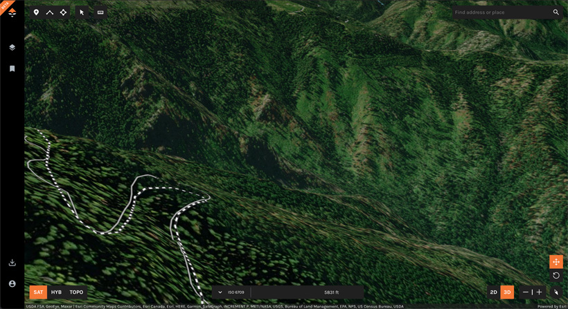 Finding spring black bear hunting spots on goHUNT Maps