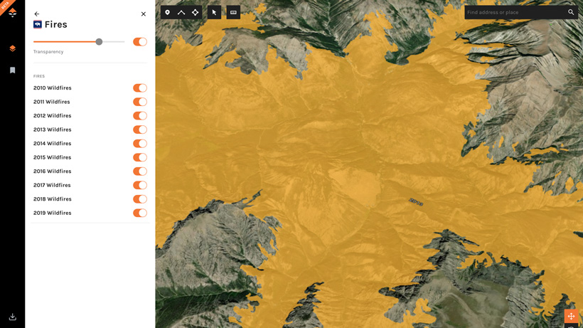 Fire layer on goHUNT Maps