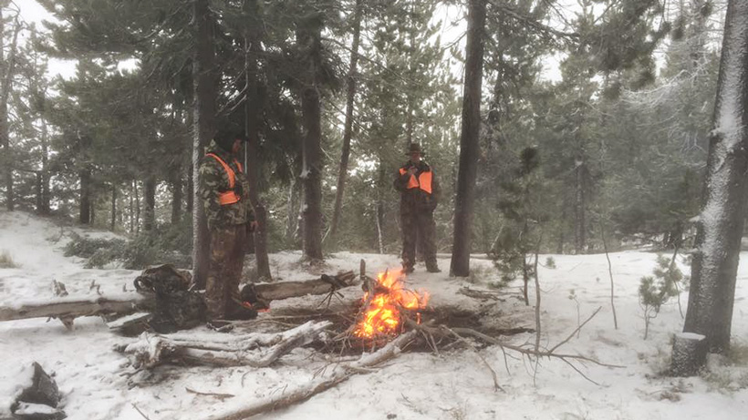 Fire to stay warm while hunting elk in Montana